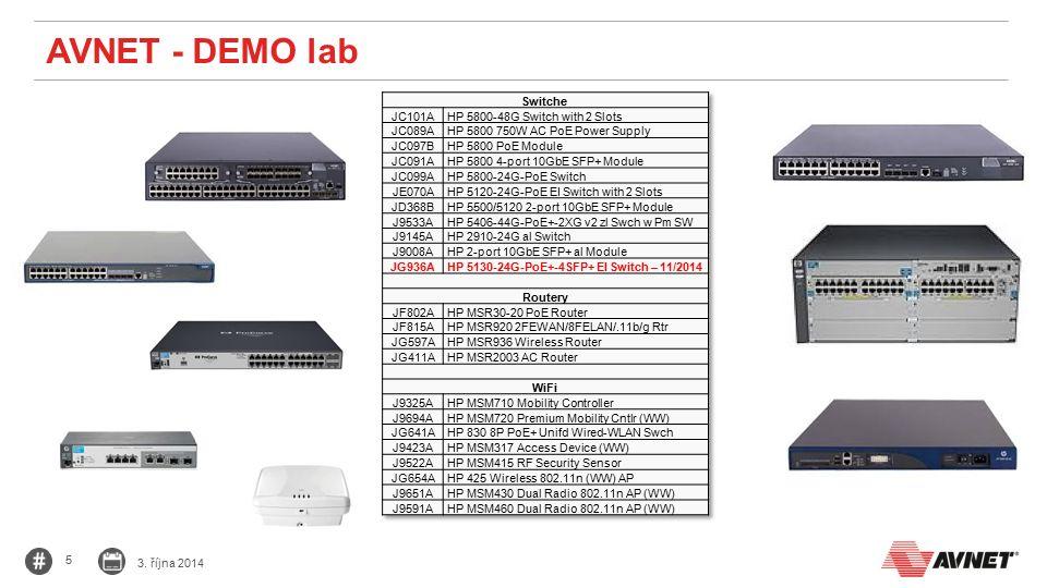 5 3. října 2014 AVNET - DEMO lab