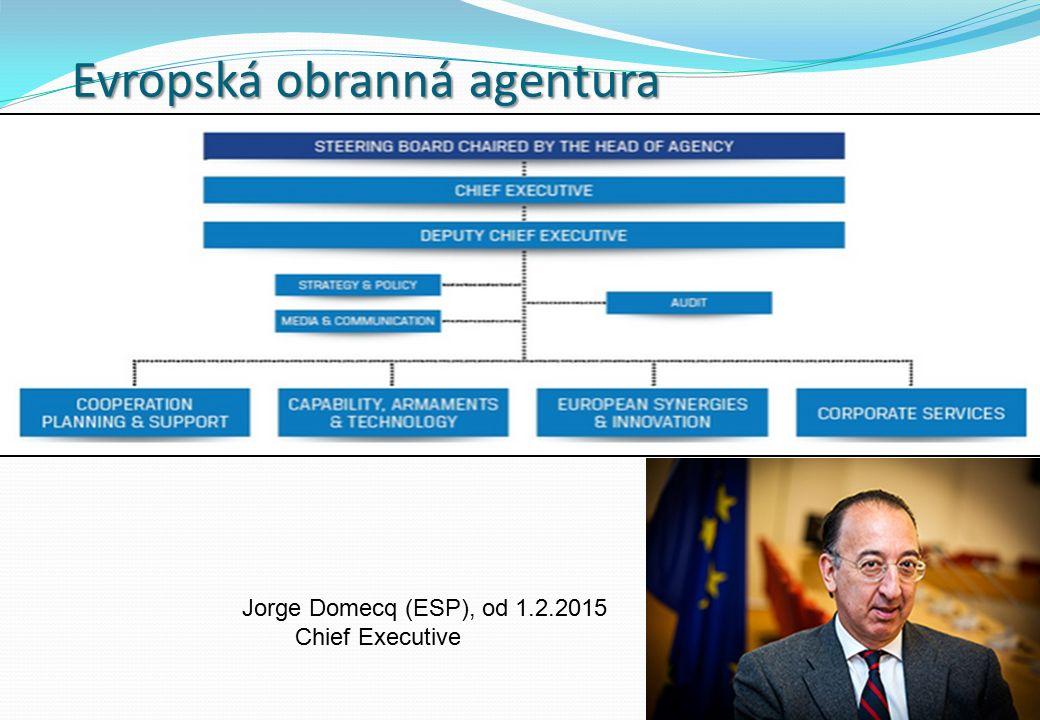 Evropská obranná agentura Jorge Domecq (ESP), od 1.2.2015 Chief Executive