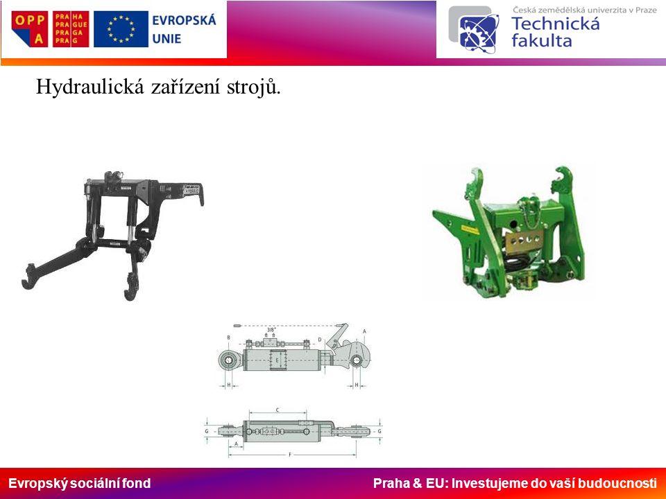 Evropský sociální fond Praha & EU: Investujeme do vaší budoucnosti Hydraulická zařízení strojů.