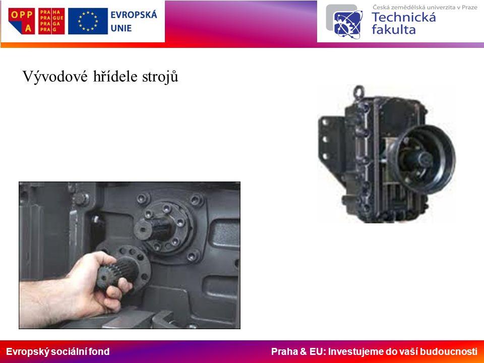 Evropský sociální fond Praha & EU: Investujeme do vaší budoucnosti Vývodové hřídele strojů