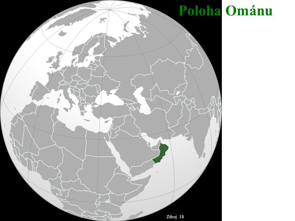 Poloha Ománu Zdroj 18