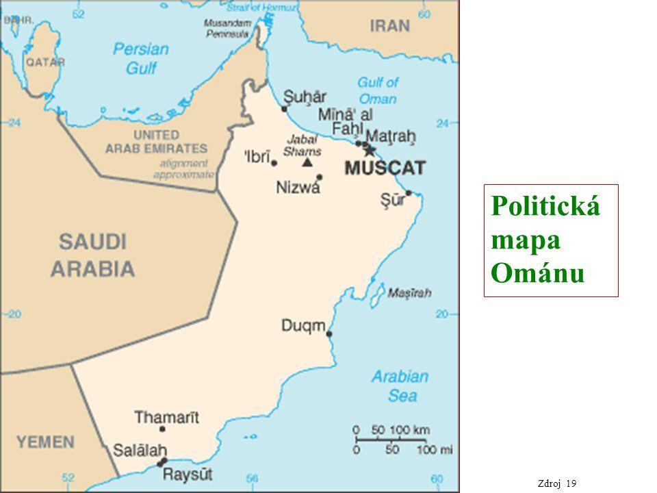 Politická mapa Ománu Zdroj 19
