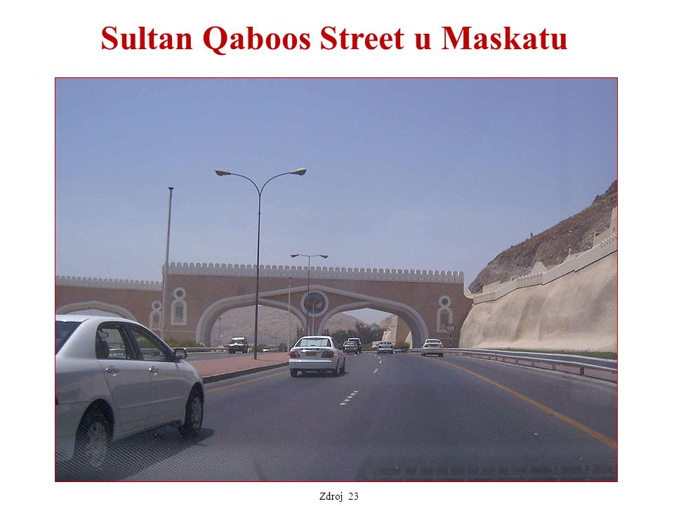 Sultan Qaboos Street u Maskatu Zdroj 23