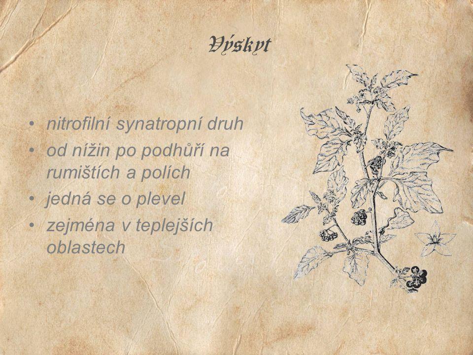 Výskyt nitrofilní synatropní druh od nížin po podhůří na rumištích a polích jedná se o plevel zejména v teplejších oblastech