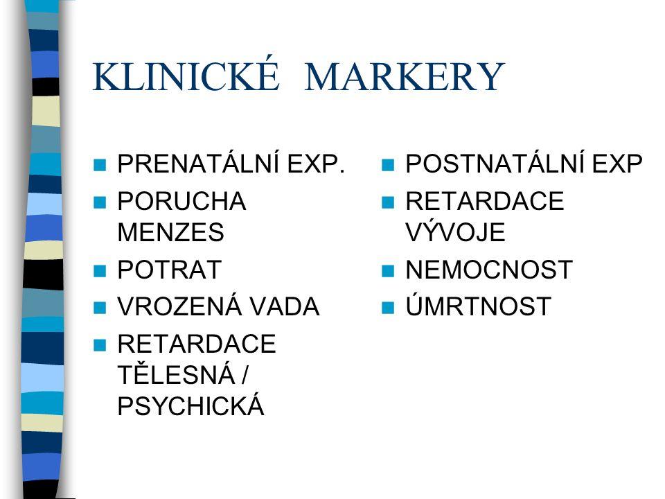 KLINICKÉ MARKERY PRENATÁLNÍ EXP.