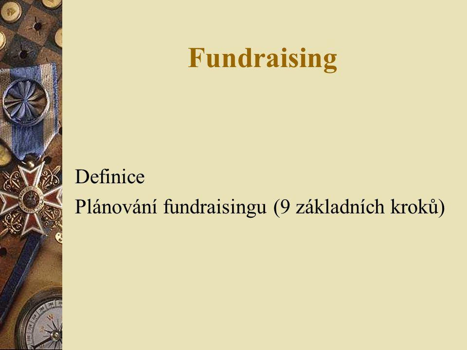 Fundraising Definice Plánování fundraisingu (9 základních kroků)