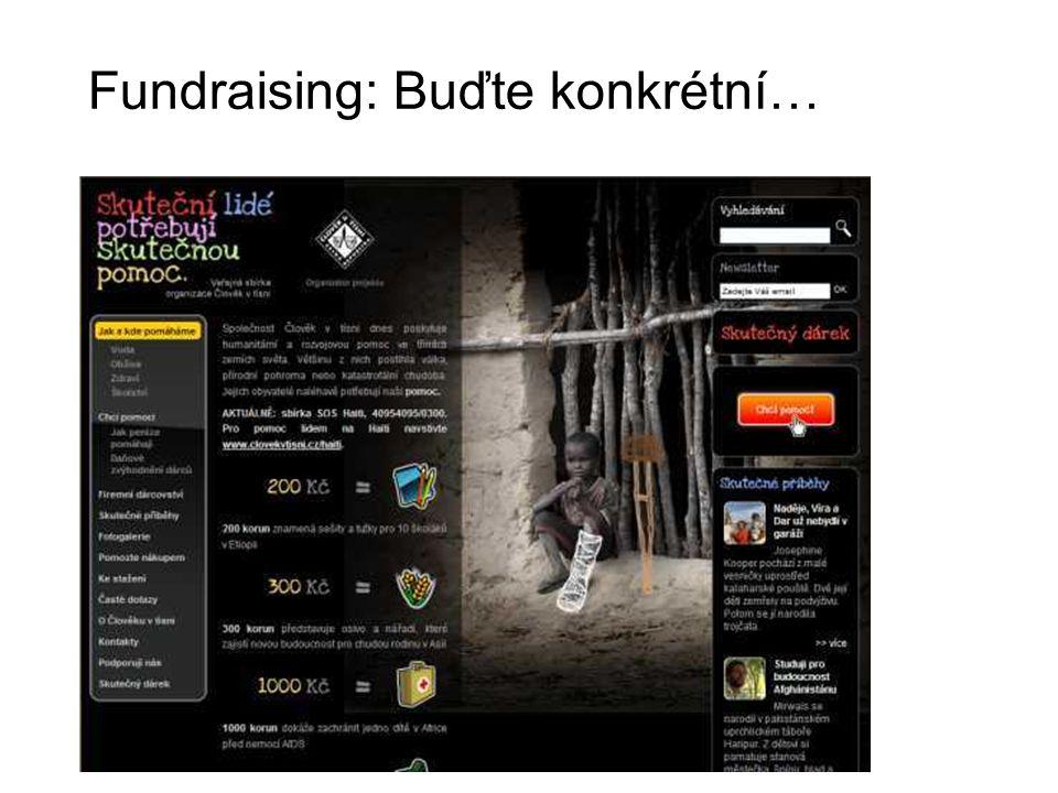 Fundraising: Buďte konkrétní…