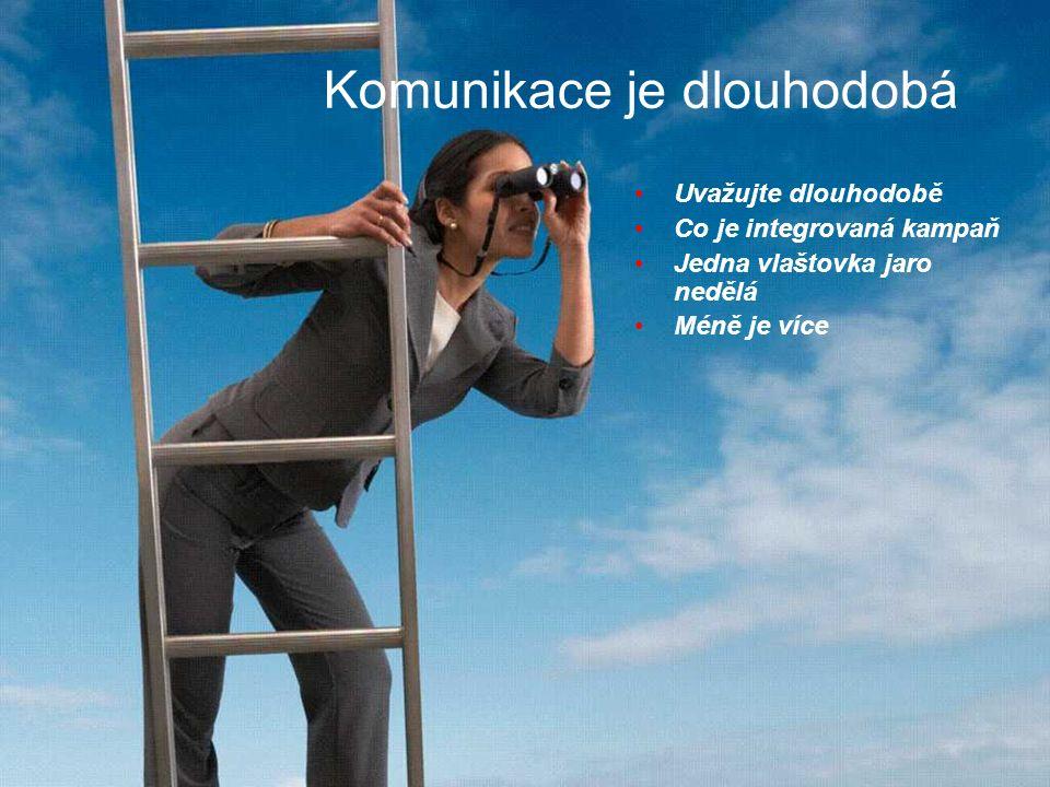 Komunikace je dlouhodobá Uvažujte dlouhodobě Co je integrovaná kampaň Jedna vlaštovka jaro nedělá Méně je více
