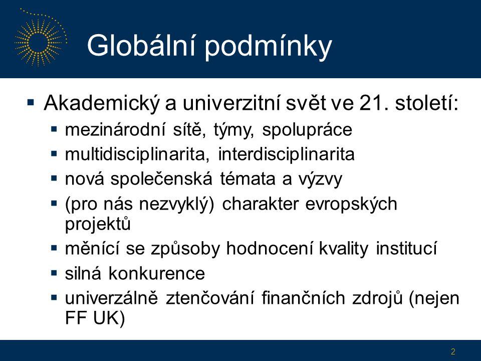 Globální podmínky  Akademický a univerzitní svět ve 21.