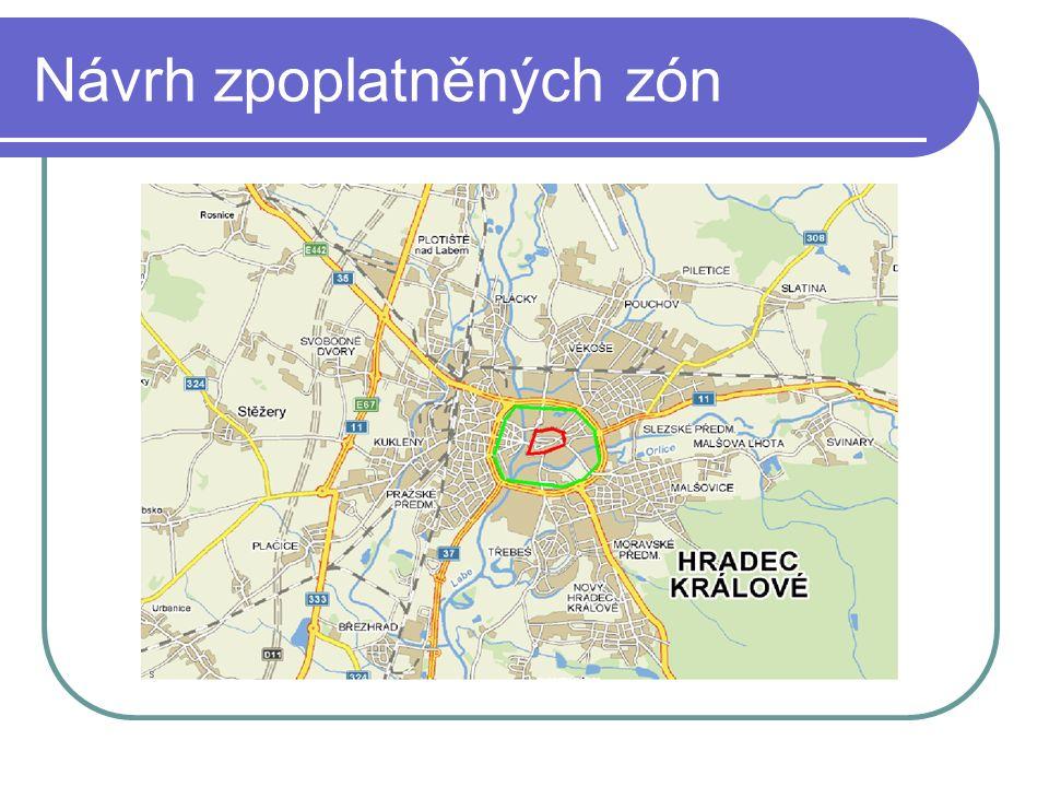 Návrh zpoplatněných zón