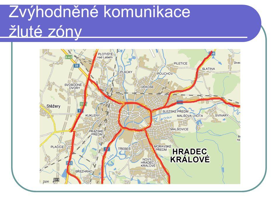 Zvýhodněné komunikace žluté zóny