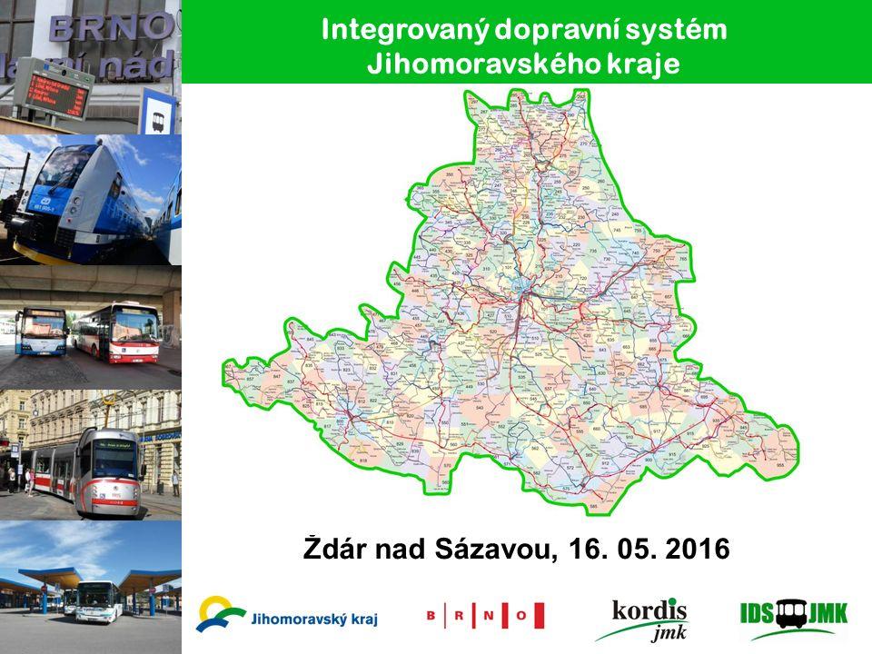 Integrovaný dopravní systém Jihomoravského kraje Ždár nad Sázavou, 16. 05. 2016
