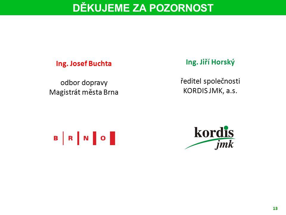 13 Ing. Jiří Horský ředitel společnosti KORDIS JMK, a.s.