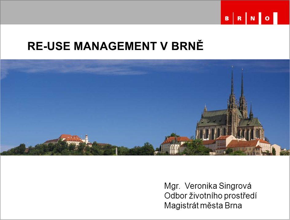 RE-USE MANAGEMENT V BRNĚ Mgr. Veronika Singrová Odbor životního prostředí Magistrát města Brna