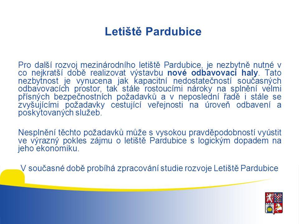 Letiště Pardubice Pro další rozvoj mezinárodního letiště Pardubice, je nezbytně nutné v co nejkratší době realizovat výstavbu nové odbavovací haly. Ta