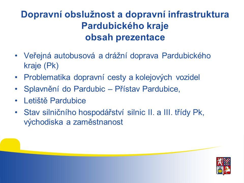Veřejná doprava Pardubického kraje hlavní ukazatele roku 2013 RozsahRozpočet Autobusová doprava16,8 mil.
