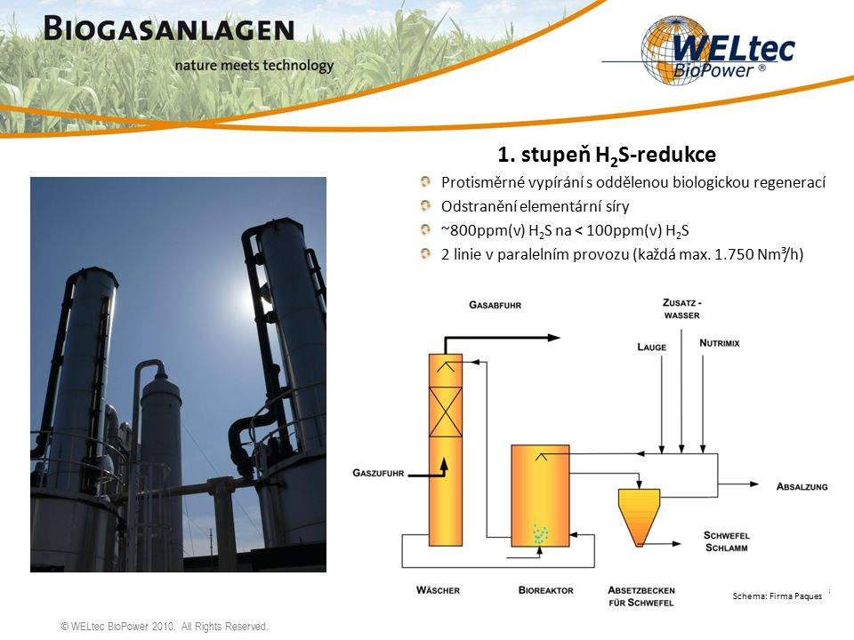 © WELtec BioPower 2010.All Rights Reserved. Schema: Firma Paques 1.