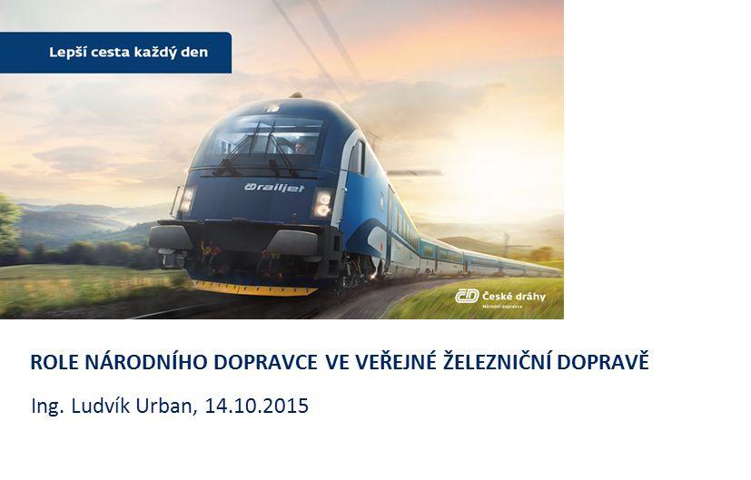 STÁT (SŽDC) Kvalitní a spolehlivá železniční dopravní cesta + DOPRAVCE Kvalitní a spolehlivá železniční vozidla = VEŘEJNOST Fungující a udržitelný síťový systém dopravní obsluhy a spokojený cestující Konkurenceschopná a přitažlivá železniční doprava