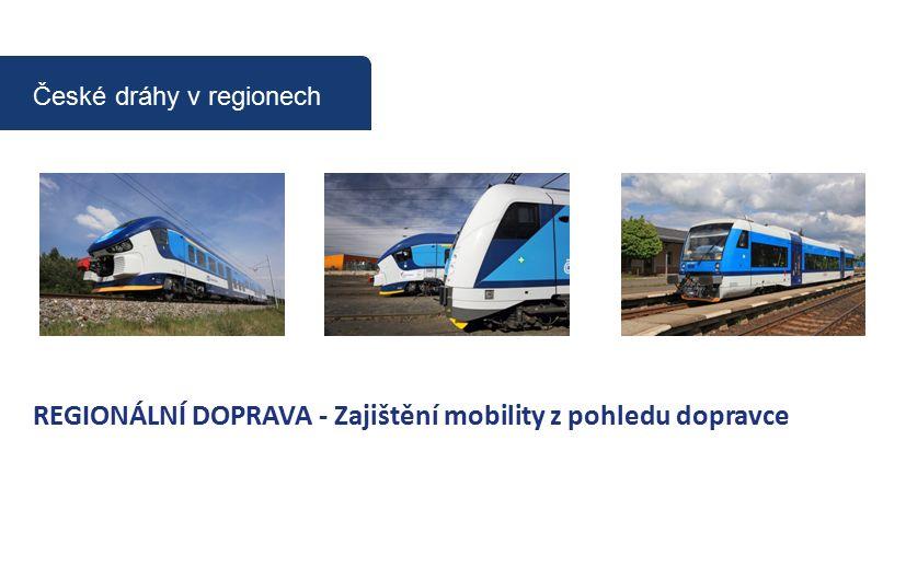 České dráhy v regionech REGIONÁLNÍ DOPRAVA - Zajištění mobility z pohledu dopravce