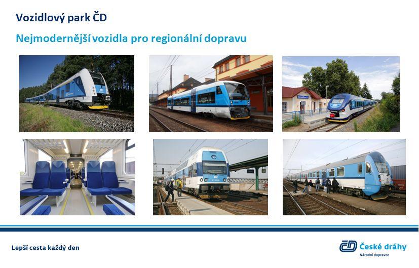 Vozidlový park ČD Nejmodernější vozidla pro regionální dopravu