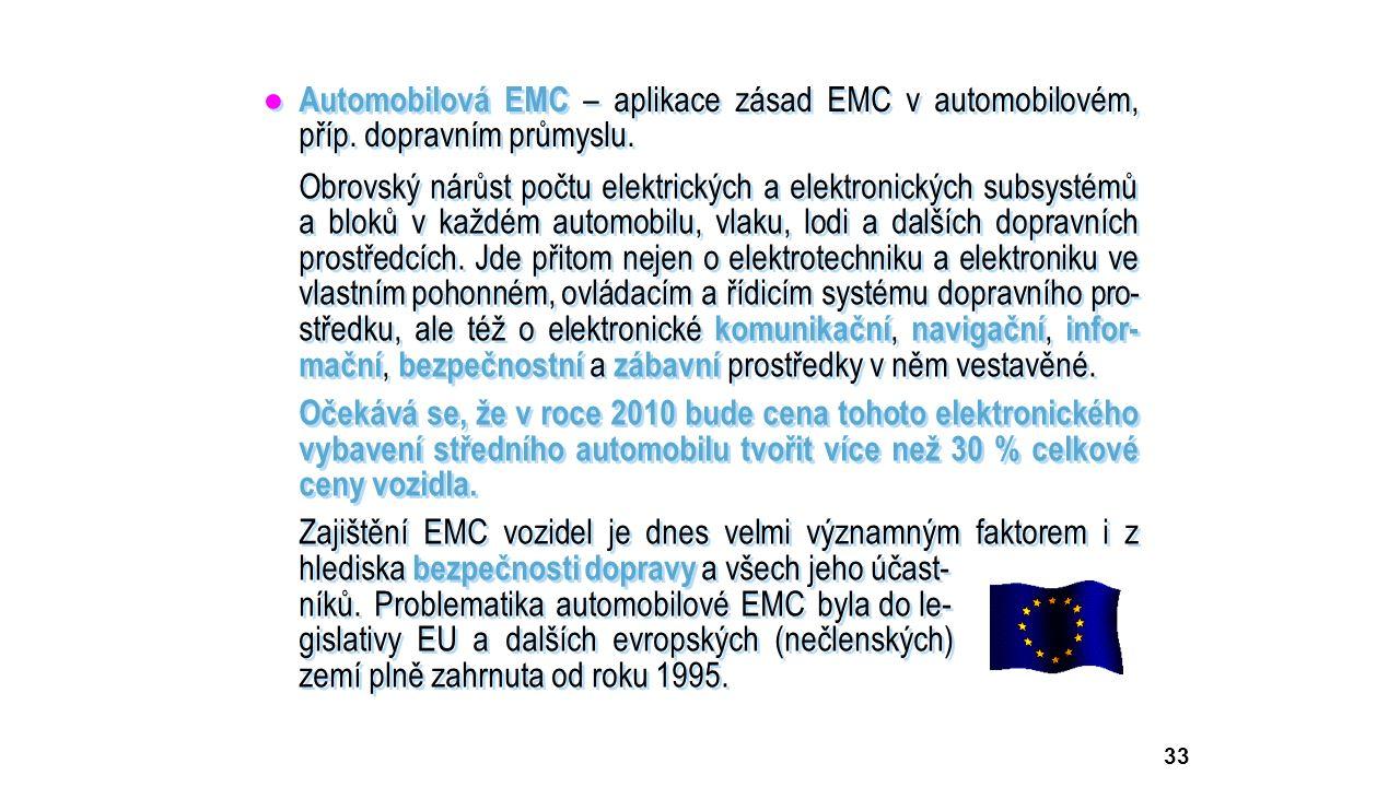 33 ● Automobilová EMC – aplikace zásad EMC v automobilovém, příp.