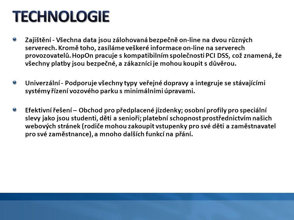 Zajištění - Všechna data jsou zálohovaná bezpečně on-line na dvou různých serverech.