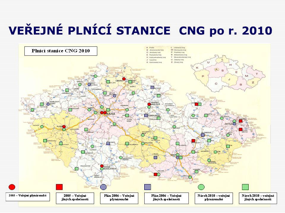 VEŘEJNÉ PLNÍCÍ STANICE CNG po r. 2010