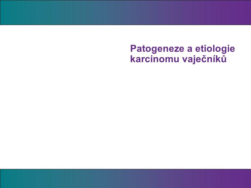 Patogeneze a etiologie karcinomu vaječníků