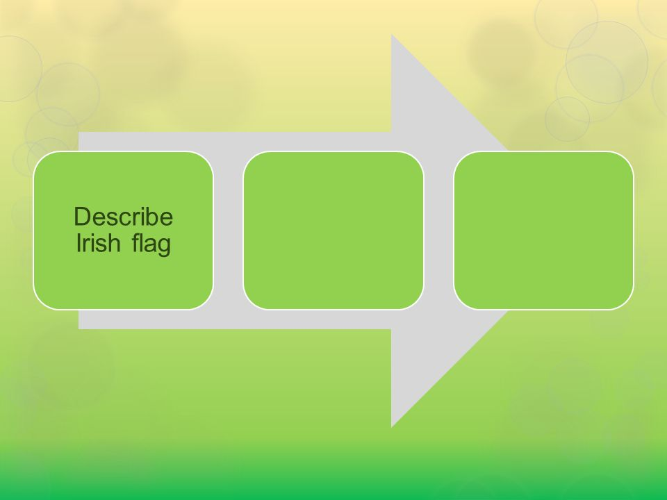 Describe Irish flag