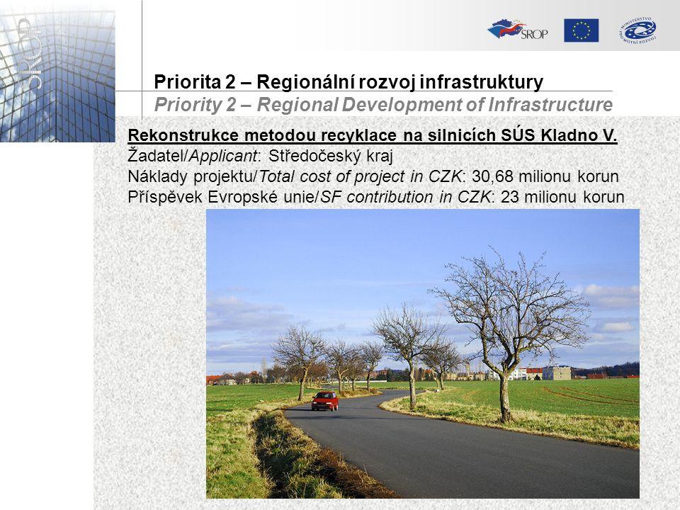 Rekonstrukce metodou recyklace na silnicích SÚS Kladno V.