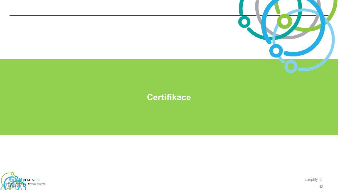 #amplify15 43 Certifikace