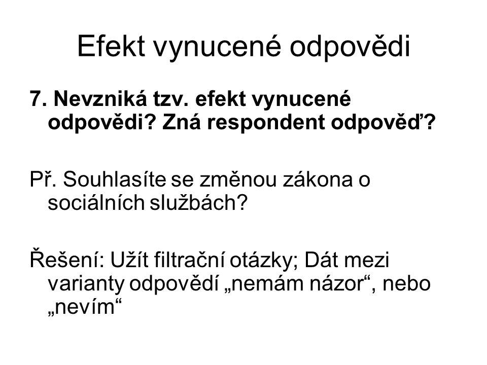 Efekt vynucené odpovědi 7. Nevzniká tzv. efekt vynucené odpovědi.