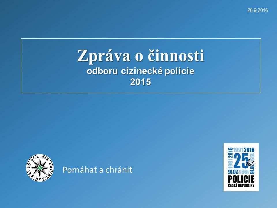 26.9.2016 Odbor cizinecké policie KŘP Olomouckého kraje 12 Činnost OCPr.