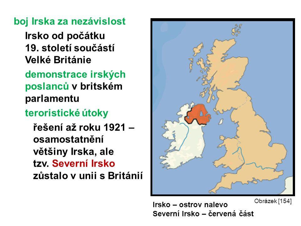 boj Irska za nezávislost Irsko od počátku 19.