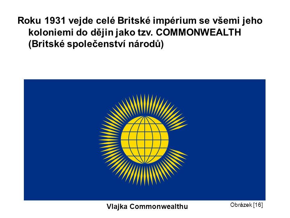 Roku 1931 vejde celé Britské impérium se všemi jeho koloniemi do dějin jako tzv.
