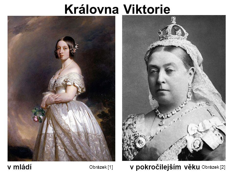 Královna Viktorie v mládí v pokročilejším věku Obrázek [2]Obrázek [1]