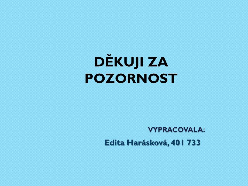 VYPRACOVALA : Edita Harásková, 401 733 DĚKUJI ZA POZORNOST