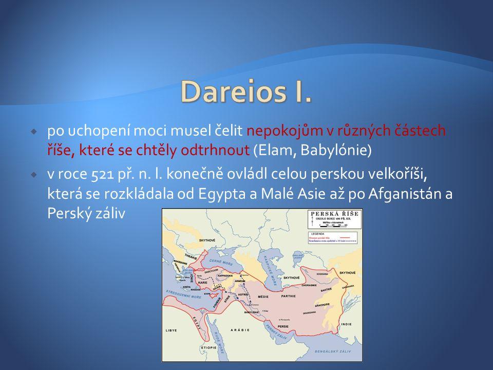  jakmile nastolil v říši pořádek, zahájil expanzi  směrem východním rozšířil své území až k Indii, na západě se mu nedařilo proti Skytům (mezi Dunajem a Donem, dnešní Ukrajina)  v Malé Asii se proti němu rozhořelo tzv.