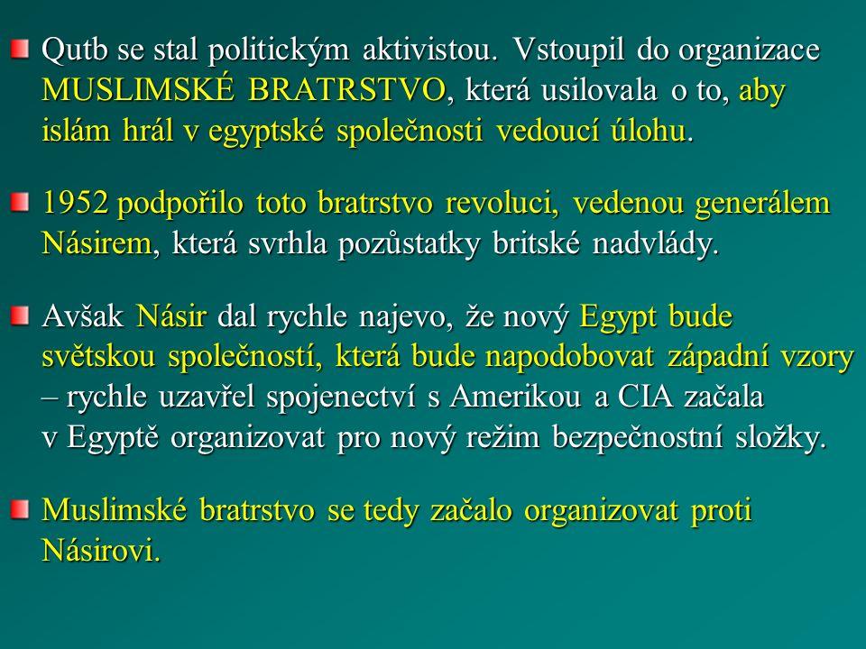 Qutb se stal politickým aktivistou.