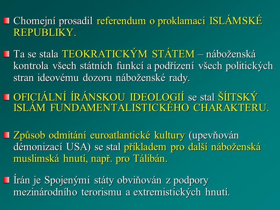 Chomejní prosadil referendum o proklamaci ISLÁMSKÉ REPUBLIKY.
