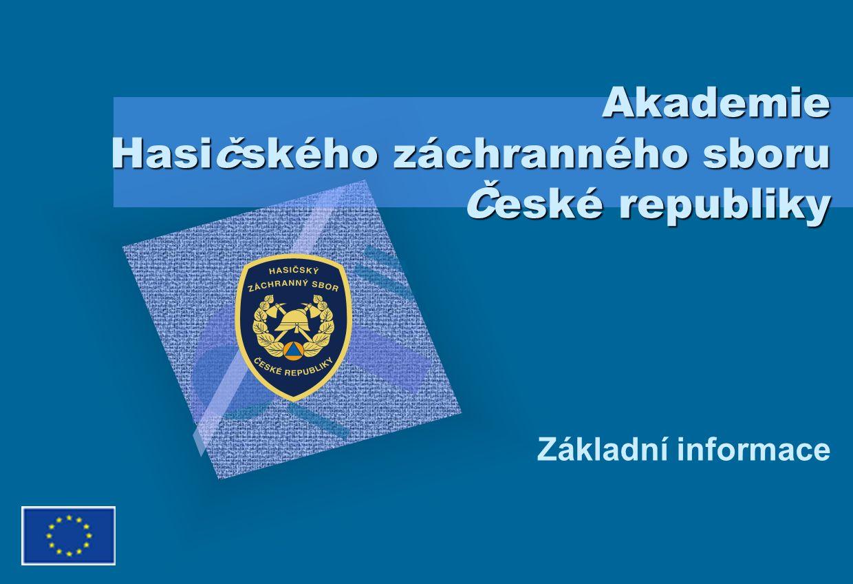 Akademie Hasičského záchranného sboru ČR Cílem projektu Národní centrum pro krizovou připravenost a výcvik složek IZS je: 1.