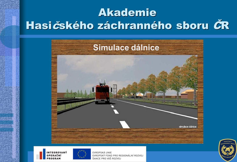 Simulace železnice Akademie Hasičského záchranného sboru ČR
