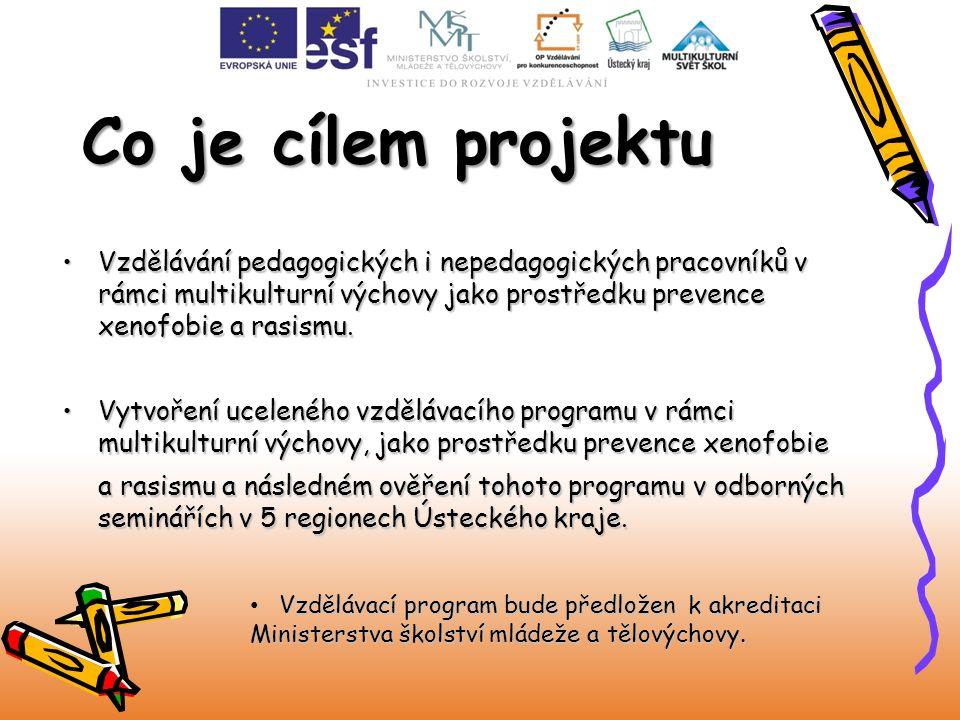 Vzdělávání pedagogických i nepedagogických pracovníků v rámci multikulturní výchovy jako prostředku prevence xenofobie a rasismu.Vzdělávání pedagogick