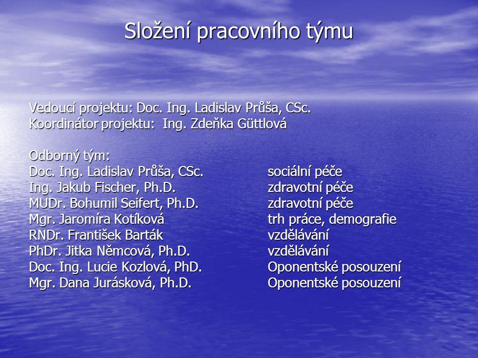 Složení pracovního týmu Vedoucí projektu: Doc. Ing.