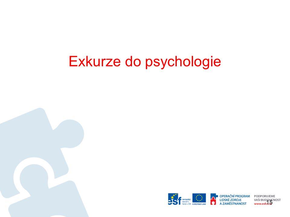 Exkurze do psychologie 15