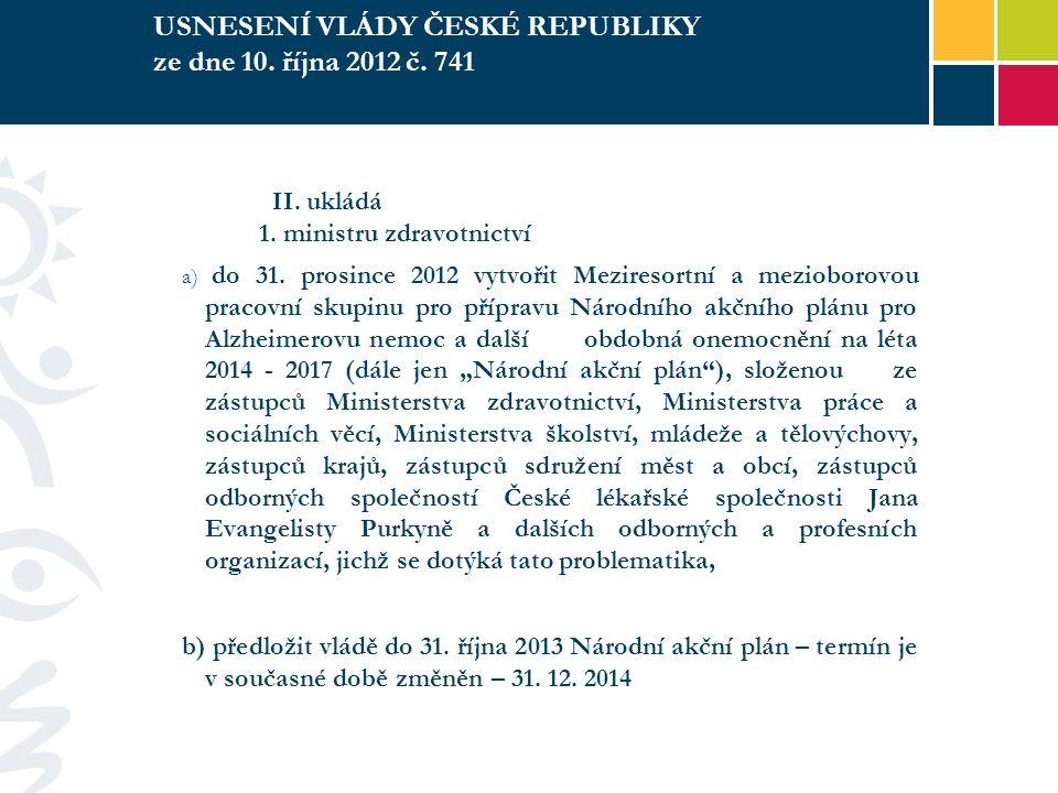 USNESENÍ VLÁDY ČESKÉ REPUBLIKY ze dne 10. října 2012 č.