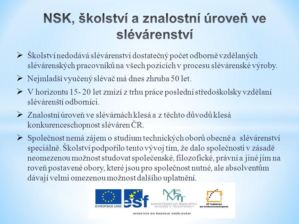  NSK/NSP je dlouhodobě v podstatě v současné době jediným sofistikovaným řešením i budoucích potřeb českého slévárenství.