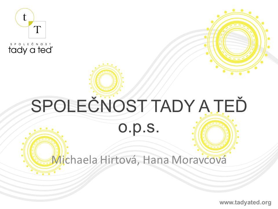 SPOLEČNOST TADY A TEĎ o.p.s. Michaela Hirtová, Hana Moravcová