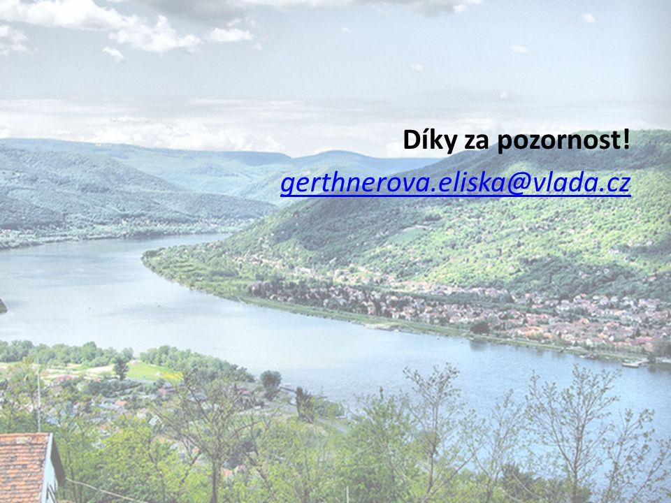 Díky za pozornost! gerthnerova.eliska@vlada.cz 11