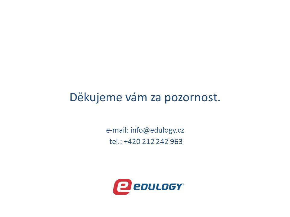 Děkujeme vám za pozornost. e-mail: info@edulogy.cz tel.: +420 212 242 963